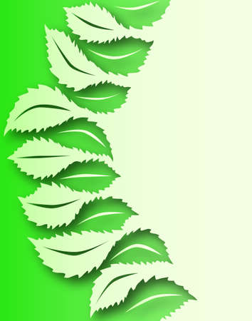 interlocked: Illustrated design of interlocked generic leaf shapes Stock Photo