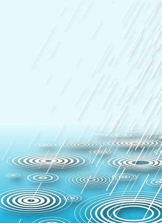 drench: Ilustraci�n de la lluvia caer en agua con copia-espacio