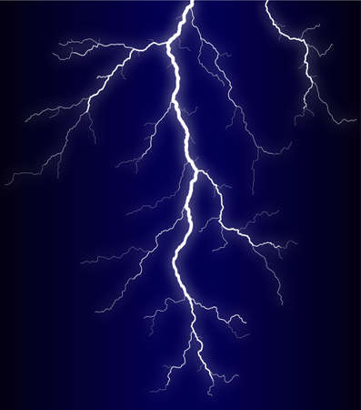 dazzle: Illustration of a lightning bolt at night