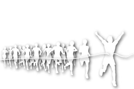 Cutout illustration of the winner of a race Stock Illustration - 6997496