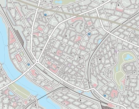 Mappa modificabile di una città generica con nomi non