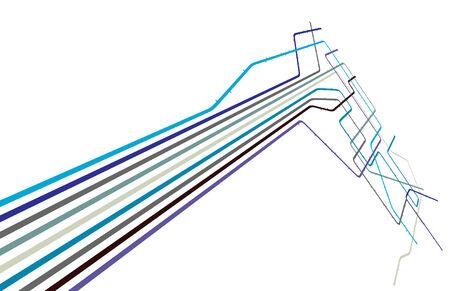 Bearbeitbare Design eines generischen u-Bahn-Systems mit Kopie, Raum
