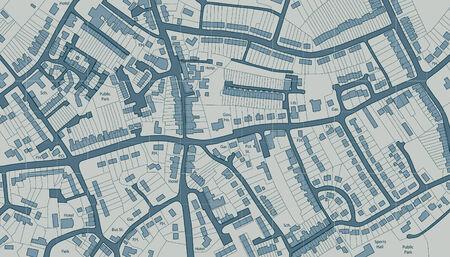 Carte illustrée modifiable de logements dans une ville générique