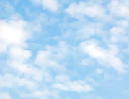 helle Wolken auf einem blauen Himmel mit einem Farbverlauf Mesh gemacht