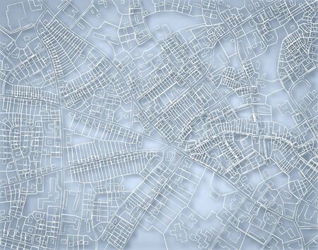 Editable vector blueprint sketch of a detailed generic street map without names with background made using a gradient mesh