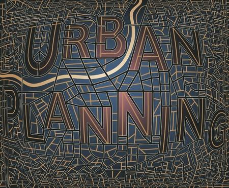 Editierbare Landkarte eines generischen Stadt mit den Straßen Schreibweise der Wörter