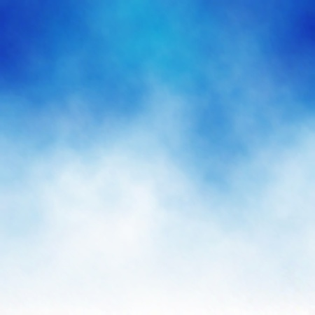 Editable vector background of white cloud detail in a blue sky made using a gradient mesh