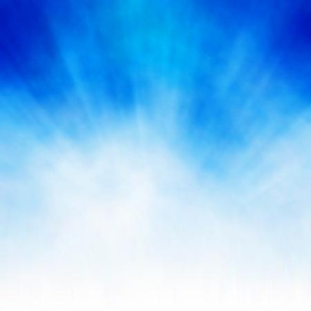 Editierbare Vektor Hintergrund einer platzenden weiße Wolke auf blauem gemacht mit einem Gradienten Masche