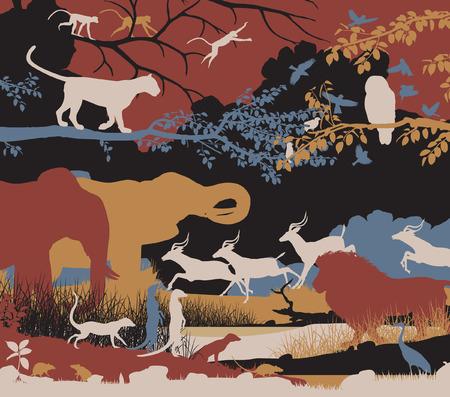 illustration of wildlife diversity