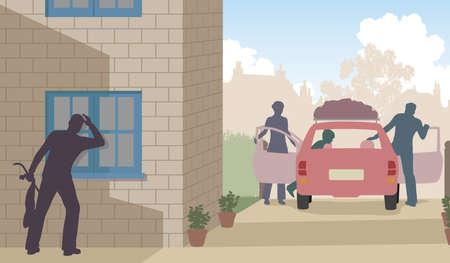 契機として家族として泥棒に泥棒のイラストを編集可能なベクトルが休暇中します。