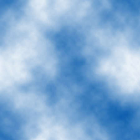 Seamless vector tile of white clouds in a blue sky made using a gradient mesh  向量圖像