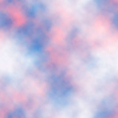 Seamless vector tile of pink and white clouds in a blue sky made using a gradient mesh