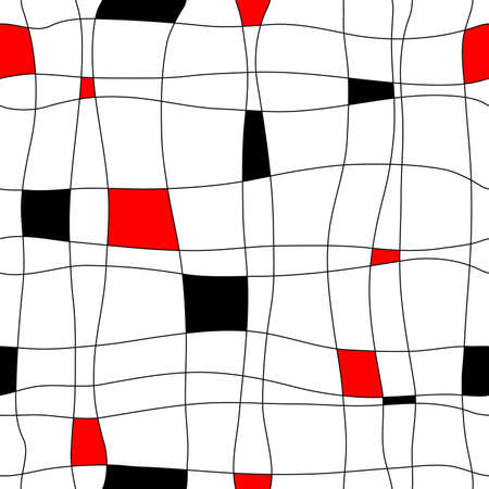 Abstract editable vector retro seamless tile pattern