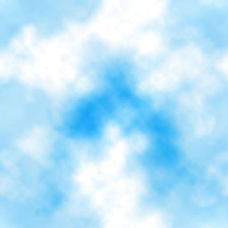A Seamless vector tile of white clouds in a blue sky made using a gradient mesh Иллюстрация