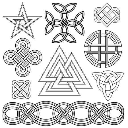 Set of editable vector celtic knot designs