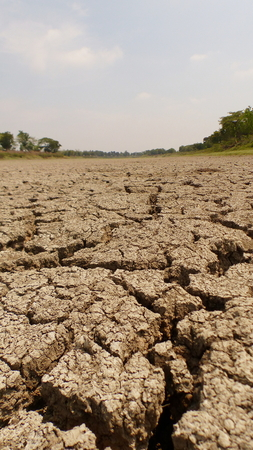 The shortage of water for agriculture. Stock Photo
