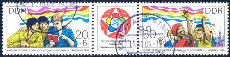 DDR XII Weltfestspiele der Jugend und Studenten Moskau 1985