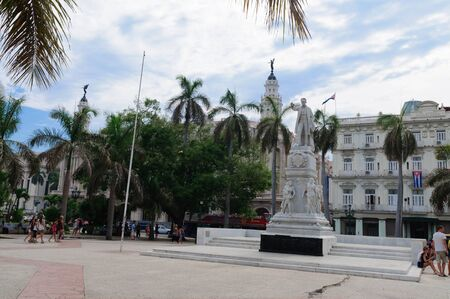 national hero: Jose Marti Cuban national hero. this monument installed in the square near the Capitol in Havana.  CUBA HAVANA - 10 August 2015.