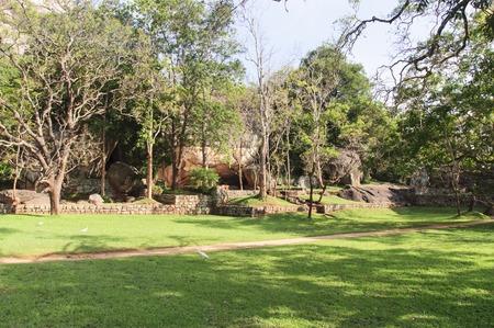 sigiriya: garden view near Sigiriya rock, Sri Lanka Stock Photo