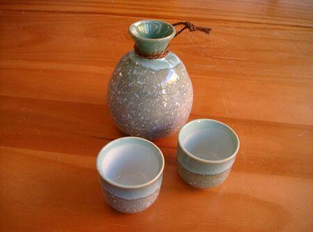 saki: Saki cups and bottle