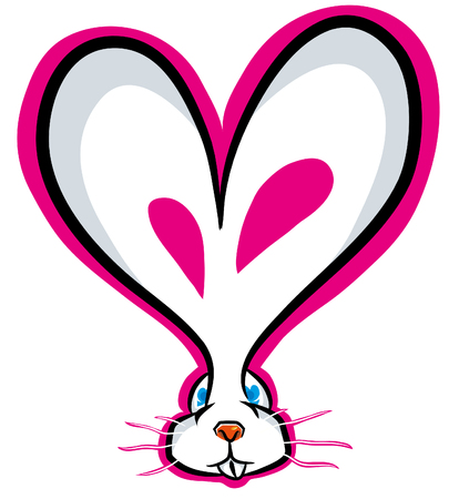 Love bunny valentines day