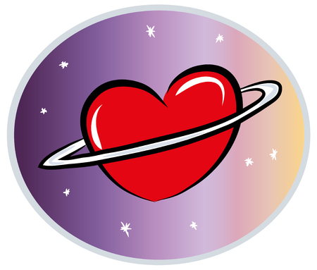 Love world and heart concept. illustration of Love planet. illustration of loving the world, the globe in the shape of heart.