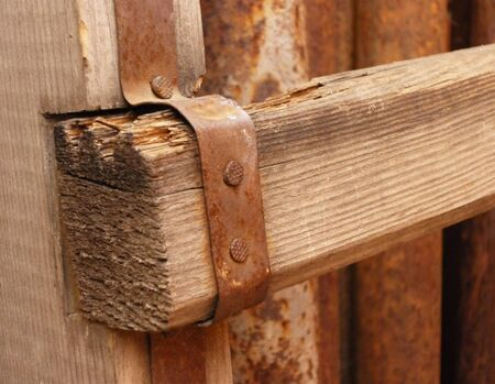 Old wood and rusty details  photo