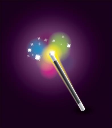 conjuring: Magic Wand Illustration