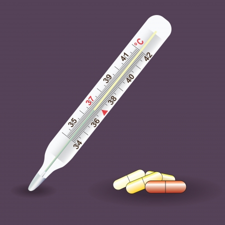 clinical thermometer: Thermometer medical Celsius Illustration