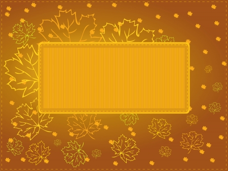 Multipurpose autumn card  Vector