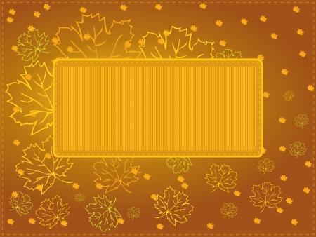 Multipurpose autumn card Stock Vector - 14713327