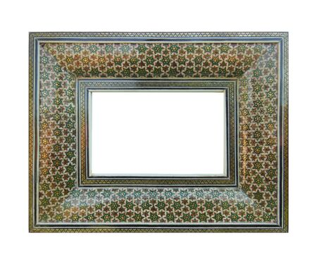 Orient style incrusted antique frame photo
