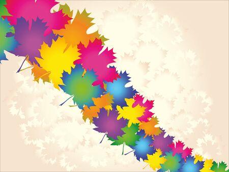 hojas de maple: Coloridas hojas de arce, fondo abstracto, vector eps8 Vectores
