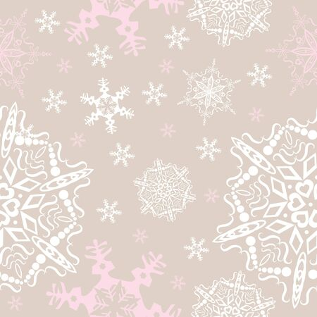 snowflakes seamless background Stock Vector - 15361959