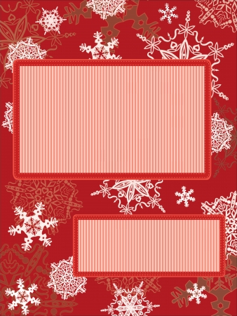 Christmas vintage frame with snowflakes Vector