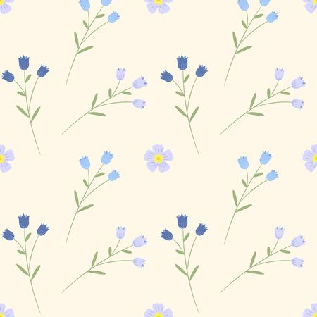 Floral seamless pattern. Vector hand drawn texture. Romantic background for fabric, web pages, wedding invitations, save the date cards.