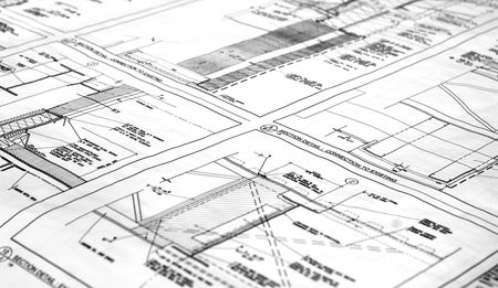 A blueprint for a building Stock Photo - 809065