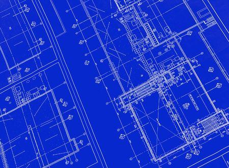 A blueprint with black ink Banco de Imagens
