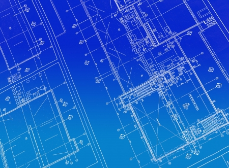 A blueprint with black ink Stock Photo - 809069