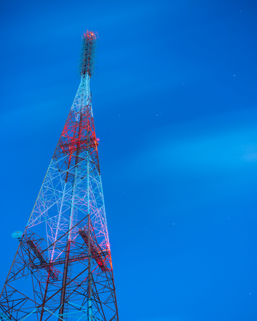Telecommunication tower in the countryside of Thailand. Imagens