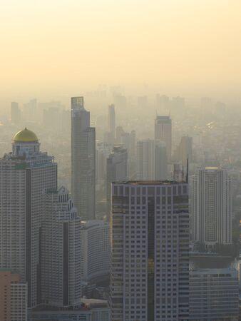 Landscape photography of Skyscraper in Bangkok City. Banco de Imagens