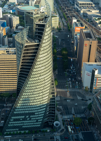 Nagoya, Japan - May 11, 2019 : Cityscape of in Nagoya city, Japan. High rise building of the financial and business district.