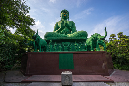 Nagoya, Japan – May 13, 2019: Japanese Nagoya Daibutsu is a huge statue of the Buddha, it is located in Toganji Temple.