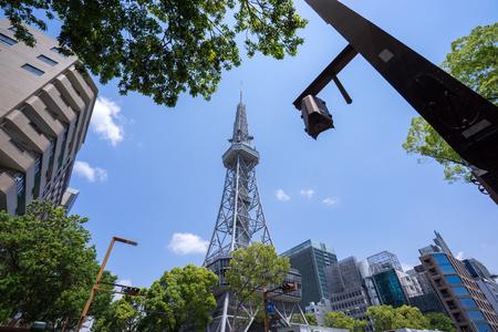 Nagoya, Japan – May 13, 2019: Nagoya TV tower. It is the oldest TV tower in Japan.