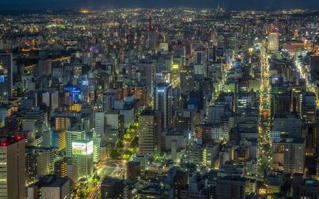Nagoya, Japan - May 11, 2019 : Breathtaking view of Nagoya City at night.