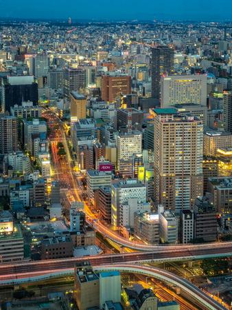 Nagoya, Japan - May 11, 2019: Skyscrapers in the city at night.
