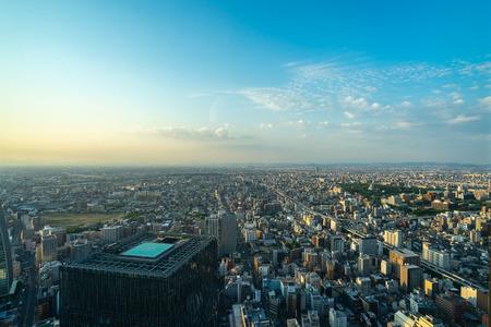 Nagoya, Japan - May 11, 2019 : Aerial View of the Skyscrapers in the City of Nagoya, Japan.