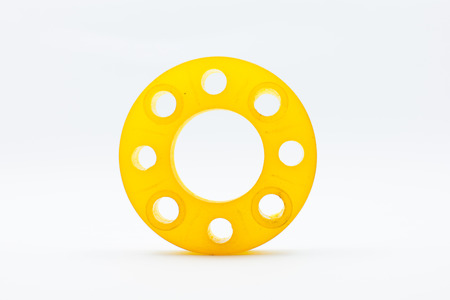 flanges: resin mold of flanges isolate on white background.