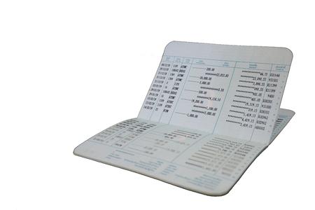 口座通帳白 background.bank 口座通帳のタイ。(コピーの領域で表示) 写真素材
