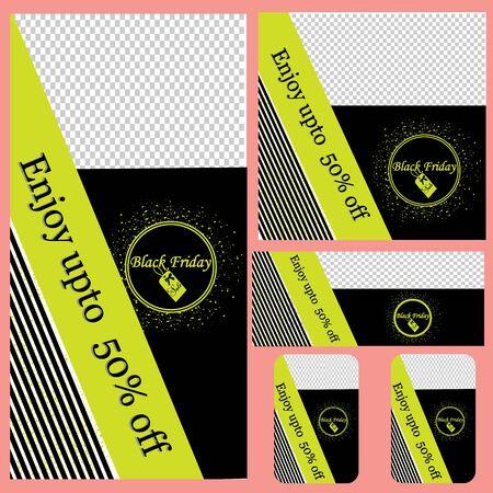 Black Friday sale banner, Black Friday, Big Sale, Black Friday background, Template Vector, Design for Card or Banner.